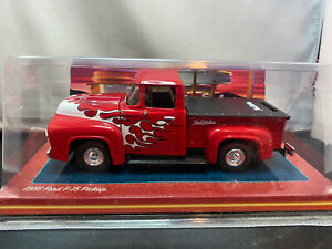 Ertl True Value 1956 Ford F-15 Pickup Truck With Flames 1/25 Diecast Coin Bank