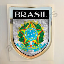 Brasil Sticker Coat of Arms Resin Domed Stickers Brazil Flag 3D Adhesive Car