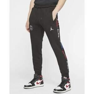 Nike Air Jordan PSG Logo Fleece Mens Bottoms Black Size XL Sportswear