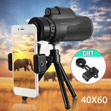 Monokular 40X60 Zoom Fernglas Kamera Objektiv Teleskop + Stativ + Clip für Handy