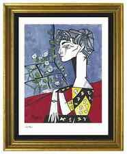 "Pablo Picasso Signed & Hand-Number Ltd Ed ""Jacqueline w Flower"" Litho (unframed)"