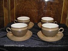 DENBY COTSWOLD 4 CUPS & 4 SAUCERS (4 Sets)EX. COND.Made ENGLAND NO Chips /Cracks