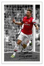 Olivier Giroud Arsenal firmato Autograph Foto Stampa Calcio 2013/14