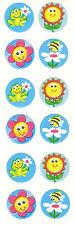 Sandylion Vintage Flowers Scratch N Sniff Stickers 3 Squares RETIRED