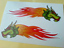 Dragon Flames Custom Car Hot Rod van Stickers Calcomanías 2 Off 100mm