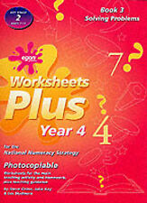 Worksheets Plus: Solving Problems Bk. 3: Year 4 for the National Numeracy Strat