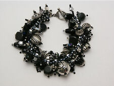 "Bracelet Bead Kit ""Starry Night"" Classic Black & silver  beads Fringe Magic NEW"