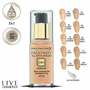 MAX FACTOR Facefinity 3in1 All Day Flawless Foundation 30ml SPF20