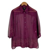 TS Taking Shape Womens Blouse Size 14 Purple Long Sleeve Good Condition