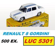 RENAULT 8 GORDINI BLANCHE BANDES BLEUES 500 EX.  #DAN-060 AU 1/43è PAR DAN TOYS
