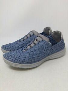 Bernie Mev Women's Blue Victoria slip On Shoes Size 39 EU