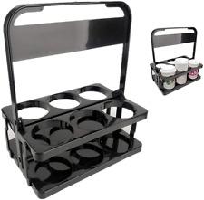 Reusable Drink Carrier FoldableBeer Caddy Beverage Delivery Holder Plastic Rack