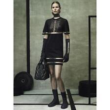 Alexander Wang x H&M Perforated Sheer Mesh Panel Short Sleeve Dress SMALL NEW