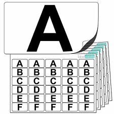 Premium Plastic Alphabet Letter Stickers A to Z. Ultra Waterproof Labels Letters
