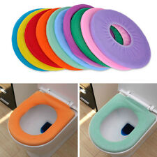Washable Cloth O-Shape Warm Clean Toilet Seat Cover Mat Bathroom Washroom Toliet