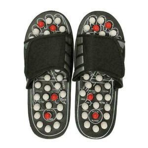 1 paar Füße Reflex Massage Sandalen Hausschuhe Akupunktur Magnet Massager I8T7