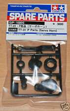 Tamiya 51005/0115308 TT-01 P Partes (servo Horn) (TT01/TT01D/TT01E/TT02/TT02B)