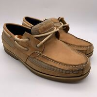 Timberland 41566 Men's Kia Wah Bay Leather/Fabric Boat Shoe Light Brown 11M
