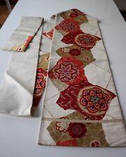 Kimono, Obi, aus Japan, Gürtel  Nagoya Obi, Seide,  Wanddeko,Karabana