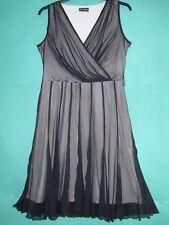Ladies Size 14 Black Chiffon Sleeveless Evening Dress by Principles