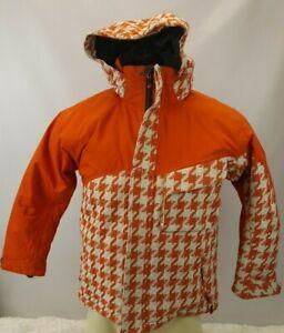 Nordica Snowboard Ski Wear Jacket Juniors Size Small Snow Protection Orange