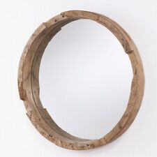 Capital Lighting 723501Mm 36 Inch Round Wood Mirror Natural Wood Finish