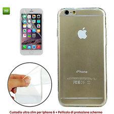 """Cover Ultra Slim per Apple iPhone 6 Plus O 6S Plus 5.5"""" Custodia Trasparente + P"""