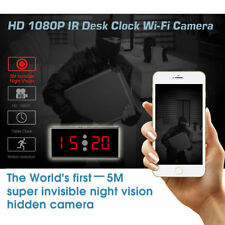 HD 1080P IR Desk Clock WIFI Hidden Camera with Motion Detection-5M Night Vision