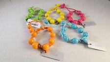 Brightly Coloured Shamballa Style Bead Bracelet Retro Disco 80`s