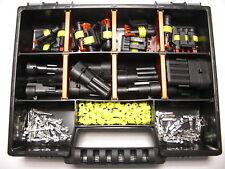 10 x AMP Superseal Stecker Set 1- 4-polig  + Box für Auto Motorrad