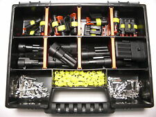10 x AMP Superseal maschio set 1 - 4 PIN + BOX PER AUTO MOTO MOTO GUZZI