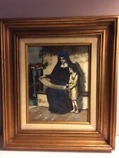 WALTER S. STACEY (1846-1929) SIGNED & FRAMED IMPRINT OF ORIG. ETCHING-RELIGIOUS