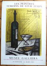 Bernard Buffet Affiche Originale 1965 Lithographie Mourlot Peintres Témoins