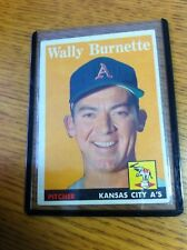 TOPPS BASEBALL 1958 WALLY BURNETTE CARD # 69 KANSAS CITY A'S MLB