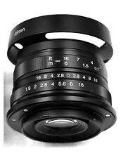 Hengyijia 25mm F1.8 Manual Focus LENS Black f/ Fujifilm FX Mount USA Shipping