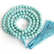 6mm Turquoise Buddhist 108 Mala Prayer Beads Necklace Meditation Bracelet Gift