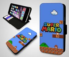 Super Mario Bros Luigi Nintendo Retro Game Boy Fan Leather Flip Phone Case Cover
