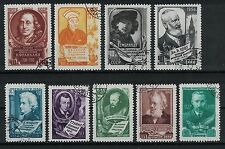 RUSSIA, USSR:1956 SC#1875-83(9) Used - Great personalities of the world