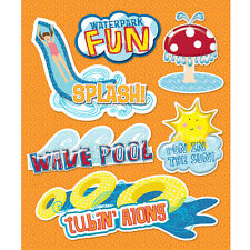 Waterpark Wave Pool Tube Lazy River Slide Splash Tide Pool K&Company 3D Sticker