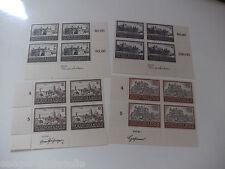 GG 1943  MiNr. 113-116 ** vom Eckrand Viererblock mit Entwurf bzw. Stich