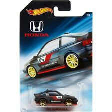 1985 Honda CR-X CRX, Black, 2018 Hot Wheels 70th Anniversary 1/8