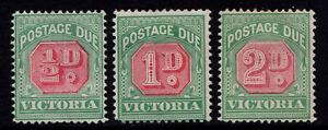 Victoria MM 1895-6 postage due stamps