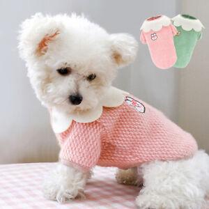 Cute Pet Dog Cat Clothes Soft Fleece Winter Sweater Jumper Adorable Puppy Vest