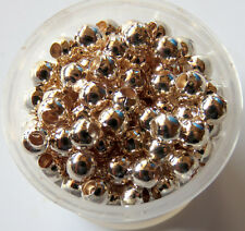 500pcs 4mm Round Metal Iron Spacer Beads - Rose Gold