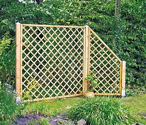 Diagonal-Rankzaun Rankgitter Zaun Rankhilfe Holz 10x10 Maschenw. versch. Größen