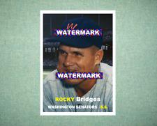 Rocky Bridges Washington Senators 1957 Style Custom Art Card