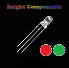 5 x Bi-Colour LED 3mm  - Red/Green - UK - 1st CLASS POST