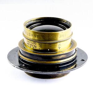 Aldis Anastigmat f7.7 No. 7 Brass Barrel Lens