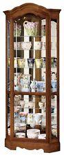 Howard Miller 680-250 Jamestown ll - Oak Yorkshire Corner Curio Display Cabinet