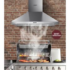 1200mm Commercial BBQ Rangehood Kitchen Wall Mounted Heavy Duty Indoor Silver